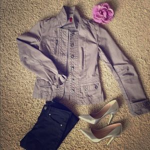 H&M Military Inspired Jacket Size 4